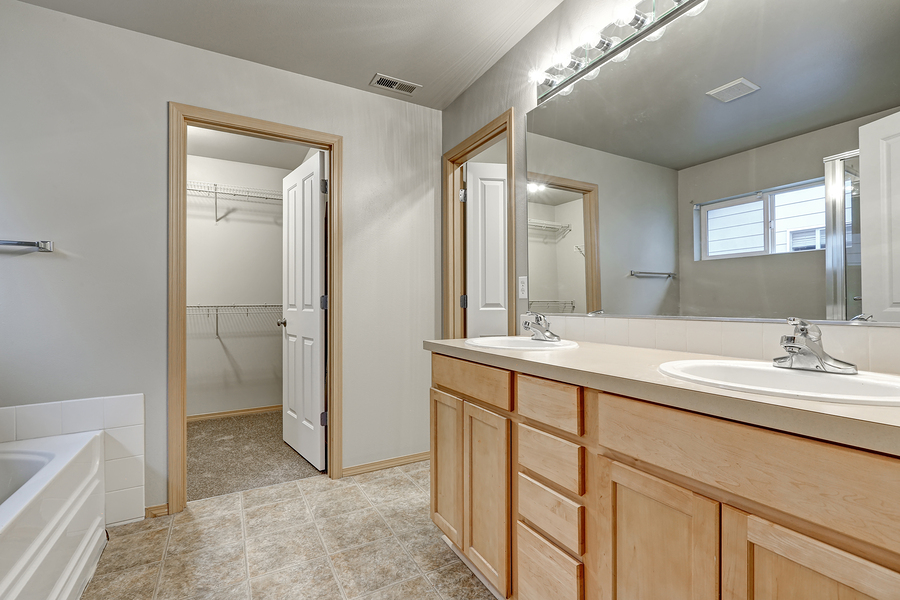 Inspiration 40 master bathroom with closet decorating for Closet bathroom suites