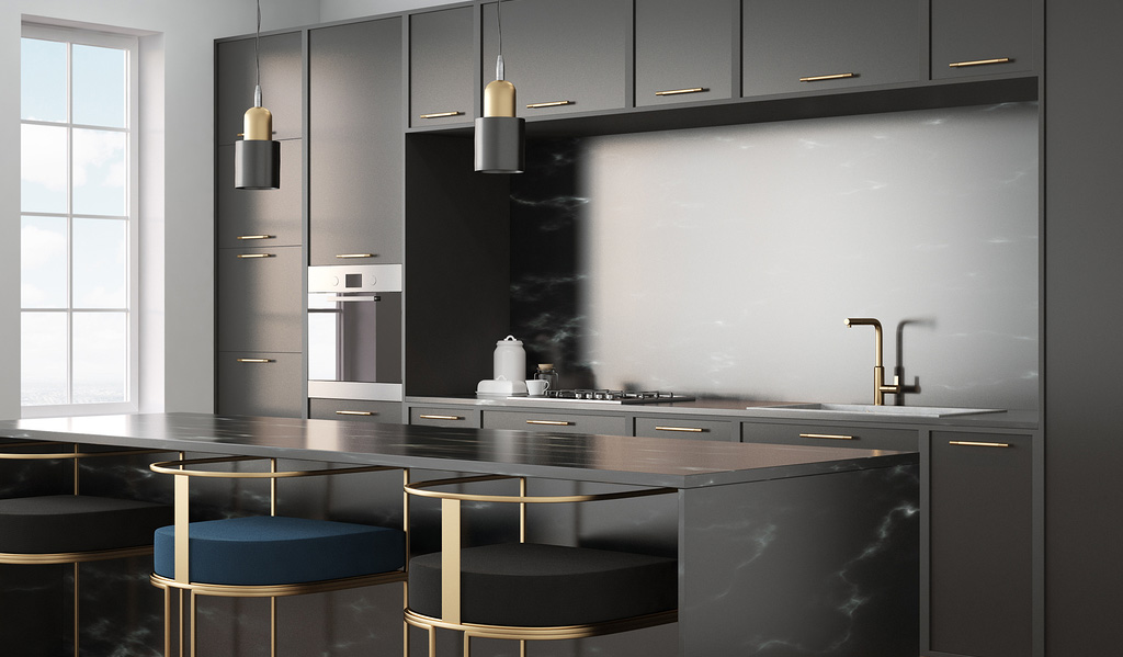Using Dark Cabinets In A Small Kitchen Dream And Baths